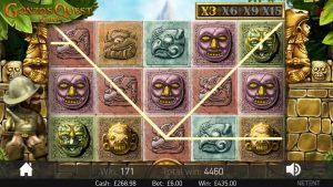 Gonzo Quest £6 bonus game  large win