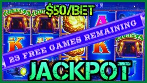 🔒HIGH bound Lock It Link Eureka Reel Blast JACKPOT HANDPAY 🔒$50 BONUS circular Slot Machine HARD stone 🔒