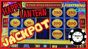 ⚡️HIGH boundary Lightning Link Happy Lantern JACKPOT HANDPAY ⚡️$50 BONUS circular Slot Machine casino bonus