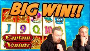 Enorme victoria! Capitán Venture grande GANAR !! Apuesta en juegos de bonificación de casino de CasinoDaddy