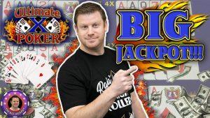 HUGE WIN on Ultimate X Video Poker Jackpot!!! | Brian of Denver Slots