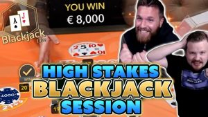 High Stakes Blackjack Session – Winning large With Momentum Strategy