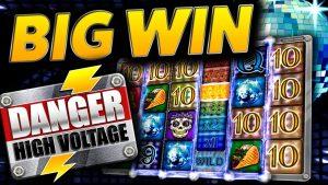 High Voltage Bonus (€40 bet) on Danger High Voltage (large WIN)