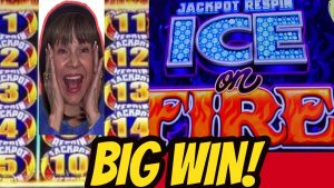 I DID IT! large WIN ON JACKPOT RESPIN H2O ice ON flame!