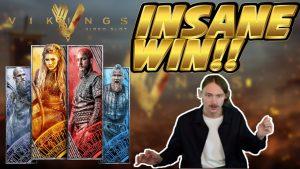 INSANE WIN! Vitória grande dos Vikings - GANHO ENORME nas slots de bônus de cassino do Casinodaddy