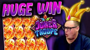INSANE WIN on Joker Troupe! (carmine Joker release Spins)