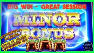 LANDED A modest JACKPOT! EUREKA REEL BLAST SLOT MACHINE | large WIN BONUS