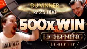 Lightning Roulette - Grande ritorno di 500 volte