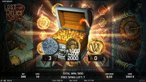 Lost Relics Slot yesteryear NetEnt large Win