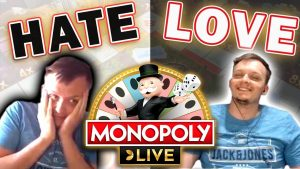 Love-detest human relationship with Monopoly Live Wheel + large WIN!!