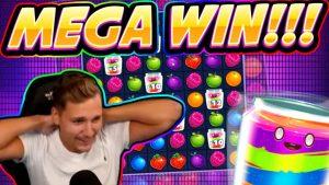 MEGA WIN! Jammin Jars вялікі WIN - ВЯЛІКІ ВЫГАЛ выйграў у жывым эфіры CasinoDaddys
