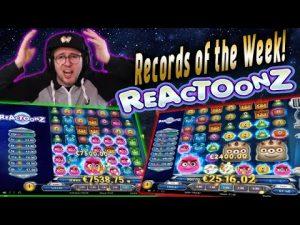 Streamers HUGE WIN! Reactoonz slot! BIGGEST WINS OF THE calendar week! casino bonus!