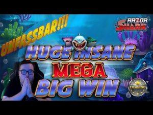 UNFASSBAR!!! HUGE INSANE MEGA large WIN BEI RAZOR SHARK (force GAMING) – 5€ EINSATZ!