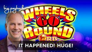 Wheels Go circular Orb Legend Slot – HUGE WIN!