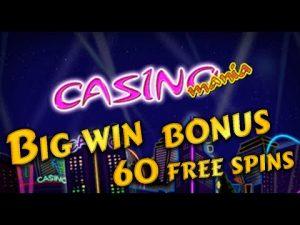 casino bonus Mania large win bonus 60 unloose spins 291X. EGT online slot