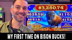 💸 first off TIME ON BISON BUCKS! 🐃 Slash the CASH for large WINS 💵 Ho-Chunk Gaming Madison #advert
