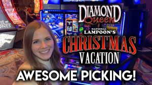 large BONUS WIN! novel Christmas opor-garai Slot Machine! $500 VS Diamond Queen!