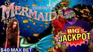 jackpot grande da HANDPAY no entalhe místico da sereia & na máquina de entalhe superior do dólar $ 50 JACKPOT da HANDPAY | porção-1