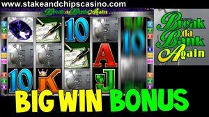 вялікі WIN - BREAK DA BANK у паўторным судовым працэсе !! Bonus бонус казіно SLOT GAME BONUS круглы - ад жывога току