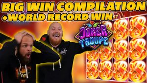 large WIN COMPILATION on JOKER TROUPE! WORLD tape WIN on Online Slot!