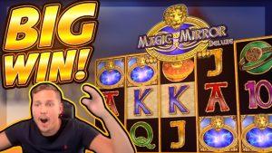 large WIN!!! Magic Mirror Delux 2 large WIN!! Dubble bonus from CasinoDaddy Live flow