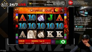 large WIN!!! Online casino bonus Slot Crystal Ball (Gamomat)- Bet 5€ Win 3.187€ (637x)
