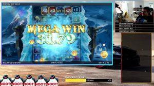 large WIN!!! Online casino bonus Slot H2O ice Wolf (ELK Studios) – Bet 0.4€ Win 129€ (323x)