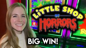 large WIN! first off Time Trying novel Little store of Horrors Slot Machine! Super Fun Game!