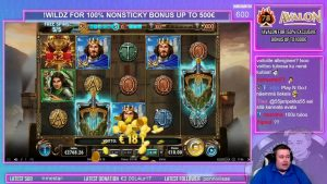 large Win ★ The Sword together with The Grail ★ Play´n Go slot, played on Vihjeareena´s current