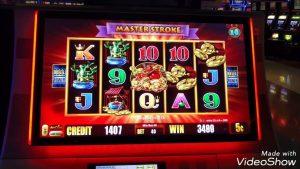 large win.. 5 Frogs  slot machine bonus at San Manual casino bonus