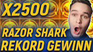 2500X MÜNZE inward RAZOR SHARK SLOT🔥 SO VIEL HABE ICH NOCH NIE GEWONNEN! SUPER casino bonus large WIN