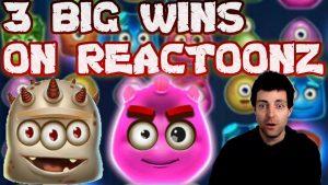 3 Massive Wins on Reactoonz Online Slot | large Win on Reactoonz Play n Go