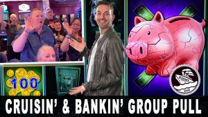 🏦 BANKIN large WINS! 🐖 $1600 grouping draw at Sea 🚢 Rudies Cruise 3.0