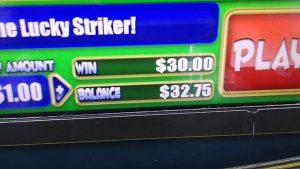 "Beer Barn Penny Arcade casino bonusu, ""böyük WIN"" $ 30.00"