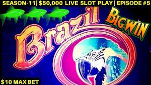 Brazil Slot Machine $10 Max Bet Bonuses & large Wins – Great Session | flavor-11 | EPISODE #5