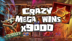 CRAZY large WINS inward casino bonus | X9000 | ROSHTEIN MEGA WINS