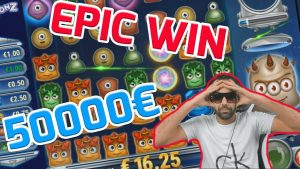 ניצחון חוץ! Streamer זכה ב- 50.000 € במשבצת Reactoonz! הזכיות הגדולות ביותר בשבוע הקלנדרי! מס '3