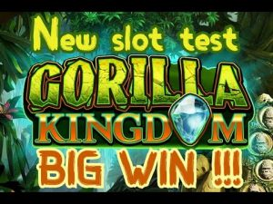 Gorilla Kingdom. novel slot essay with many bonuses. large WIN !!! -NetEnt-