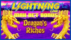 IGHHigh vázaný Lightning Link Dragon's Riches ⚡️ $ 25 MAX BET BONUS kruhový výherní automat LAS VEGAS kasino bonus