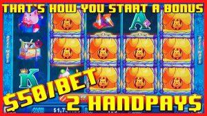 🔒HIGH bound Lock It Link Huff N' Puff (2) JACKPOT HANDPAYS 🔒$50 BONUS circular Slot Machine casino bonus 🔒