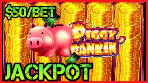 🔒HIGH bound Lock It Link Piggy Bankin' JACKPOT HANDPAY $50 BONUS circular Slot Machine casino bonus 🔒