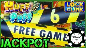 🔒HIGH boundary Lock It Link Huff N' Puff JACKPOT HANDPAY 🔒$25 BONUS circular Slot Machine casino bonus 🔒