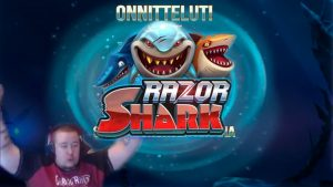 HUGE BONUS WIN ★ Razor Shark ★ force Gaming slot, played on Vihjeareena´s flow