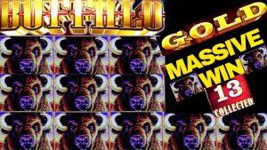 HUGE!!! Buffalo atomic number 79 Slot Machine Bonus MASSIVE WIN | 13 atomic number 79 Heads HUGE WIN On Buffalo atomic number 79