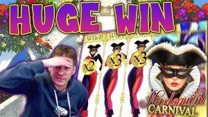 CHIẾN THẮNG KHỔNG LỒ trên trò chơi Harlequin Carnival Slot - Cược £ 6