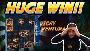 רול גבוה! ויקי ונטורה WIN גדול - משחקי בונוס קזינו מהזרימה החיה של CasinoDaddy