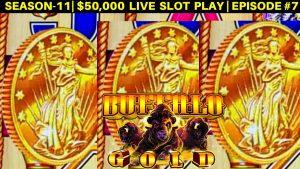 High boundary BUFFALO atomic number 79 Slot Machine $15 Bet Bonus Won – Live Slot Play | flavour-11 | EPISODE #7