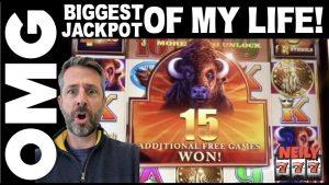 I JUST striking THE BIGGEST SLOT JACKPOT of MY LIFE! 🐂💰BUFFALO XTREME SLOT MACHINE @ San Manuel casino bonus!