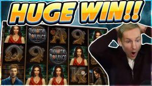 Immortal Romance large win – HUGE WIN on casino bonus game from Microgaming