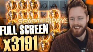 Insane win x3200 on Vikings slot (Netent) – Top 5 large wins inward casino bonus slot